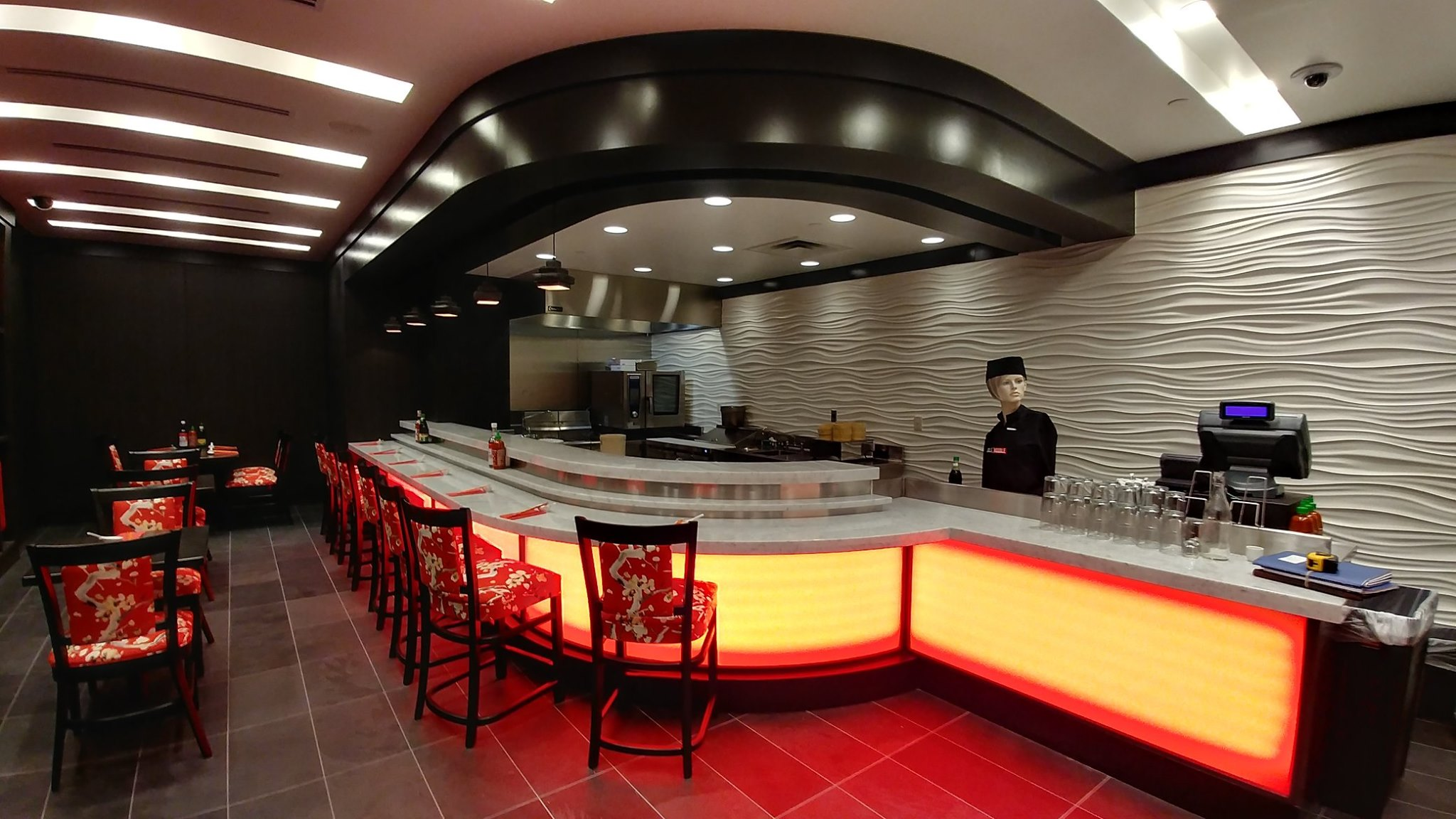 Counters Fabricated for the Noodle Bar at Turning Stone Casino